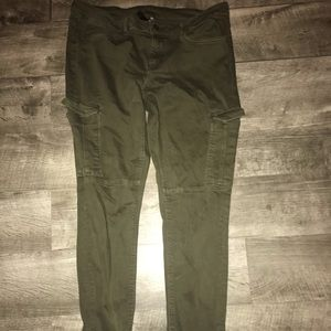 Green Cargo Skinny Jeans